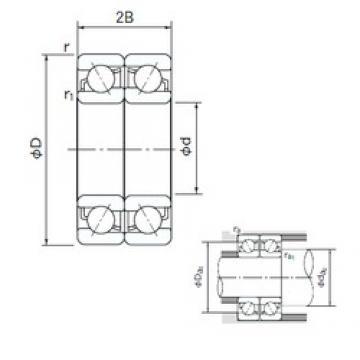 180 mm x 280 mm x 46 mm  NACHI 7036CDF angular contact ball bearings