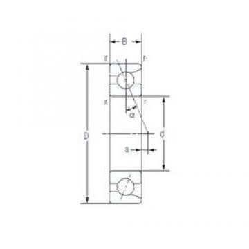 50 mm x 72 mm x 12 mm  NACHI 7910AC angular contact ball bearings
