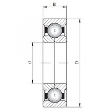 ISO QJ244 angular contact ball bearings