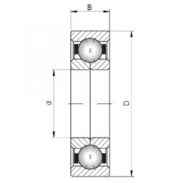 Loyal QJ244 angular contact ball bearings