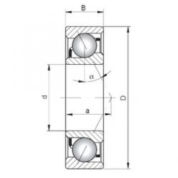 180 mm x 280 mm x 46 mm  ISO 7036 B angular contact ball bearings
