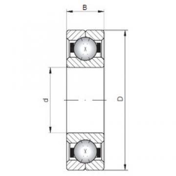 ISO Q1036 angular contact ball bearings