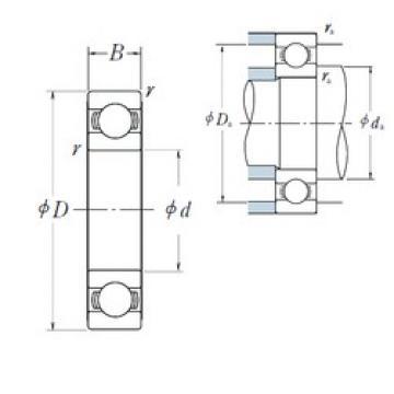 180 mm x 250 mm x 33 mm  NSK 6936 deep groove ball bearings