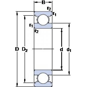 70 mm x 150 mm x 35 mm  SKF 6314 M deep groove ball bearings