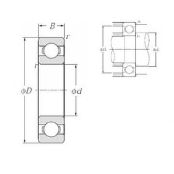 180 mm x 280 mm x 46 mm  NTN 6036 deep groove ball bearings