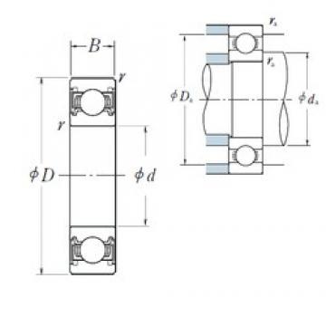30 mm x 42 mm x 7 mm  NSK 6806VV deep groove ball bearings