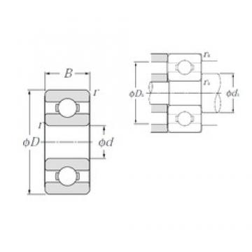 5 mm x 19 mm x 6 mm  NTN 635 deep groove ball bearings