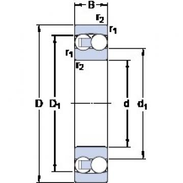 70 mm x 150 mm x 35 mm  SKF 1314 self aligning ball bearings