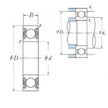 30 mm x 42 mm x 7 mm  NSK 6806ZZ deep groove ball bearings