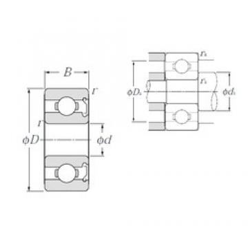 5 mm x 19 mm x 6 mm  NTN 635Z deep groove ball bearings