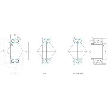 65 mm x 120 mm x 38,1 mm  SKF 3213A angular contact ball bearings