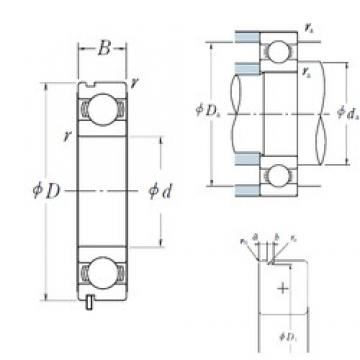 60 mm x 85 mm x 13 mm  NSK 6912N deep groove ball bearings