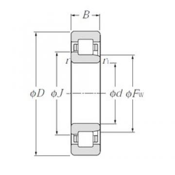 180 mm x 280 mm x 46 mm  NTN NJ1036 cylindrical roller bearings