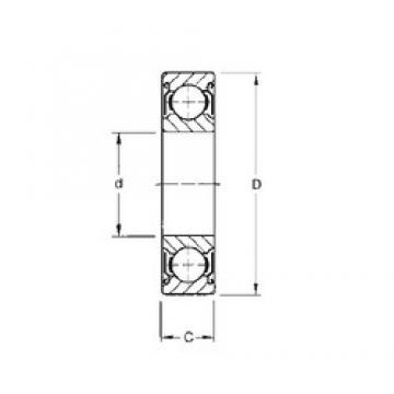 55 mm x 80 mm x 13 mm  CYSD 6911-ZZ deep groove ball bearings