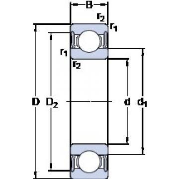 100 mm x 150 mm x 24 mm  SKF 6020-2RS1 deep groove ball bearings