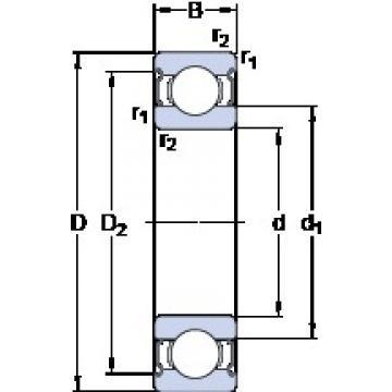 70 mm x 150 mm x 35 mm  SKF E2.6314-2Z deep groove ball bearings