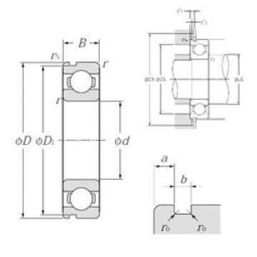 50 mm x 72 mm x 12 mm  NTN 6910N deep groove ball bearings