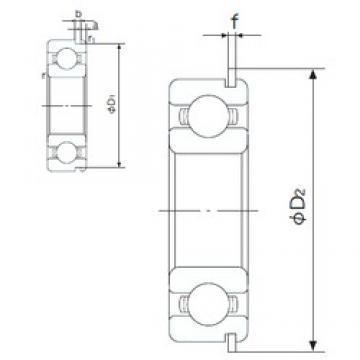 60 mm x 85 mm x 13 mm  NACHI 6912NR deep groove ball bearings
