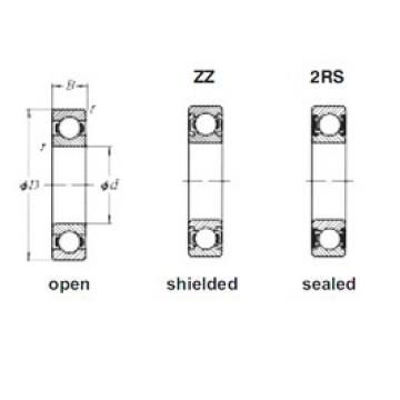 55 mm x 80 mm x 13 mm  Loyal 61911-2RS deep groove ball bearings