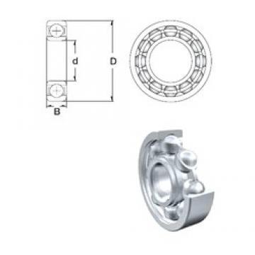 5 mm x 19 mm x 6 mm  ZEN S635-2Z deep groove ball bearings