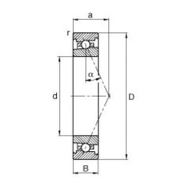 60 mm x 85 mm x 13 mm  FAG HS71912-E-T-P4S angular contact ball bearings