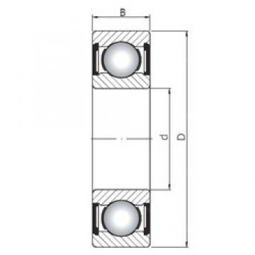 55 mm x 80 mm x 13 mm  ISO 61911 ZZ deep groove ball bearings