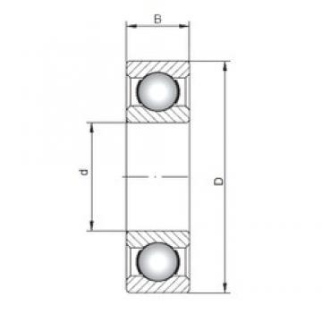 180 mm x 280 mm x 46 mm  ISO 6036 deep groove ball bearings