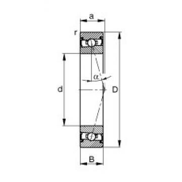 50 mm x 72 mm x 12 mm  FAG HSS71910-C-T-P4S angular contact ball bearings