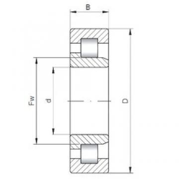 180 mm x 280 mm x 46 mm  Loyal NJ1036 cylindrical roller bearings