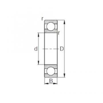 55 mm x 80 mm x 13 mm  CYSD 6911 deep groove ball bearings