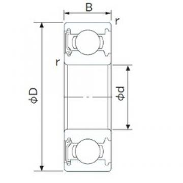 55 mm x 80 mm x 13 mm  CYSD 6911-RS deep groove ball bearings