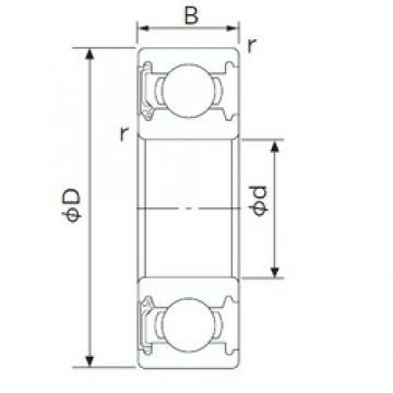 55 mm x 80 mm x 13 mm  CYSD 6911-RZ deep groove ball bearings