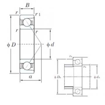 55 mm x 80 mm x 13 mm  KOYO 7911C angular contact ball bearings