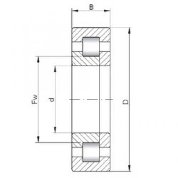 220 mm x 400 mm x 65 mm  ISO NUP244 cylindrical roller bearings