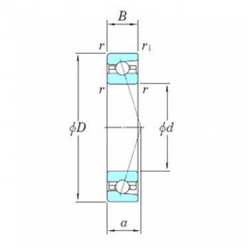 55 mm x 80 mm x 13 mm  KOYO 3NCHAC911CA angular contact ball bearings