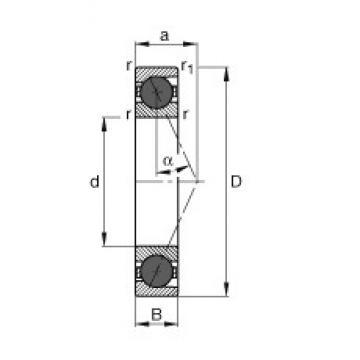180 mm x 280 mm x 46 mm  FAG HCB7036-E-T-P4S angular contact ball bearings