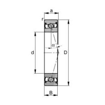 60 mm x 85 mm x 13 mm  FAG HCS71912-C-T-P4S angular contact ball bearings