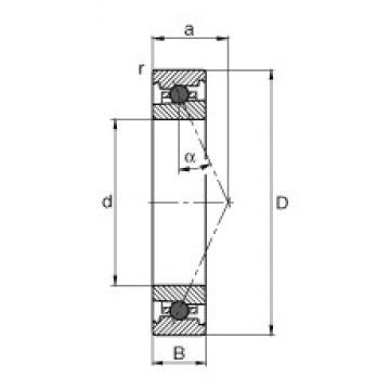 50 mm x 72 mm x 12 mm  FAG HC71910-E-T-P4S angular contact ball bearings