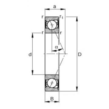 55 mm x 80 mm x 13 mm  FAG B71911-E-2RSD-T-P4S angular contact ball bearings