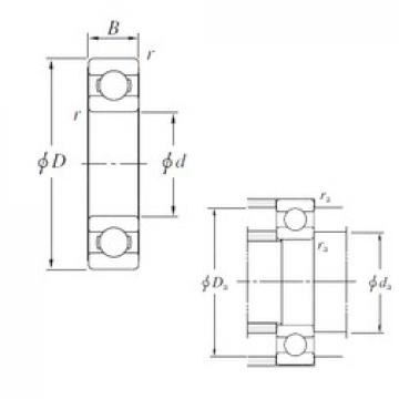 220 mm x 400 mm x 65 mm  KOYO 6244 deep groove ball bearings