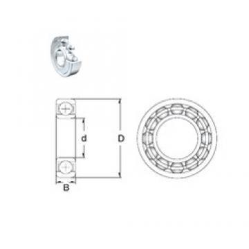 30 mm x 42 mm x 7 mm  ZEN 61806-2Z deep groove ball bearings