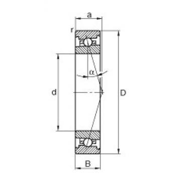 50 mm x 72 mm x 12 mm  FAG HS71910-C-T-P4S angular contact ball bearings