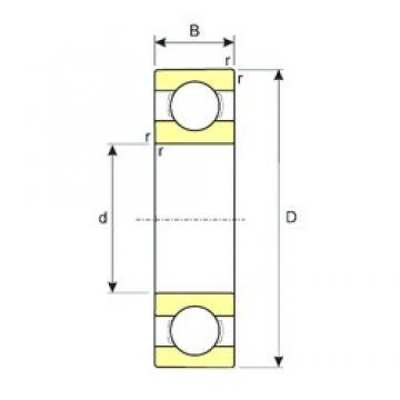 180 mm x 250 mm x 33 mm  ISB 61936 MA deep groove ball bearings