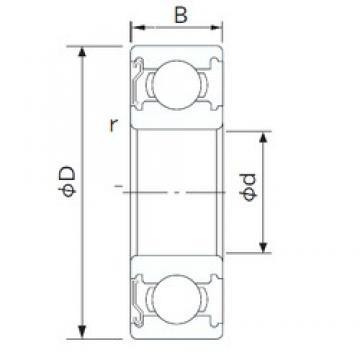 180 mm x 250 mm x 33 mm  CYSD 6936-Z deep groove ball bearings