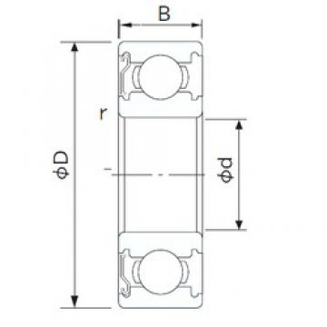 30 mm x 42 mm x 7 mm  NACHI 6806ZE deep groove ball bearings
