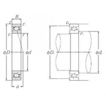 55 mm x 80 mm x 13 mm  NTN HSB911C angular contact ball bearings