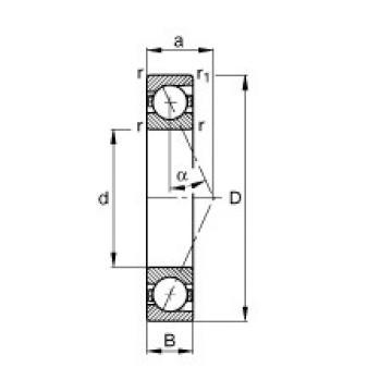 220 mm x 400 mm x 65 mm  FAG B7244-E-T-P4S angular contact ball bearings