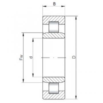 300 mm x 540 mm x 85 mm  Loyal NU260 E cylindrical roller bearings