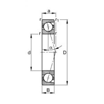 55 mm x 80 mm x 13 mm  FAG B71911-C-T-P4S angular contact ball bearings