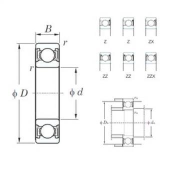 55 mm x 80 mm x 13 mm  KOYO 6911Z deep groove ball bearings